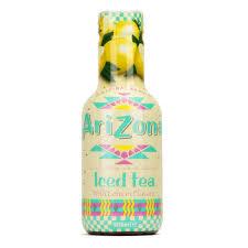 arizona iced tea with lemon arizona