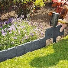 cobbled stone garden lawn edging
