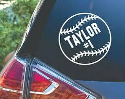 5 Personalized Baseball Softball Team Sports Car Truck Vinyl Decal Sticker Ebay