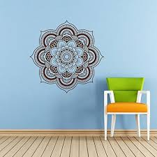 Mandala Wall Decal Namaste Flower Mandala Indian Lotus Yoga Wall Vinyl Decals Sticker Home Interior Wall Decor For Any Room Housewares Mural Design Graphic Bedroom Wall Decal Bathroom 5924 Walmart Com