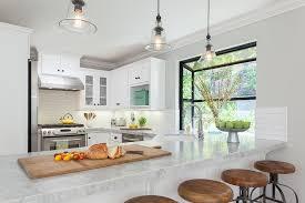 kitchen with glass bell jar lanternb