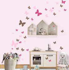 Pretty Girls Room Decor Idea With Butterfly Wall Decals Buy Online Wall Vinyl Decor Wall Decor Stickers Girls Wall Stickers