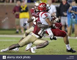 12 September 2009: Florida State safety Nick Moody tackles Stock ...