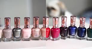 sally hansen salon gel polish colors