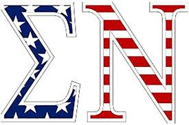 Amazon Com Sigma Nu American Flag Greek Letter Sticker 2 5 Tall Automotive