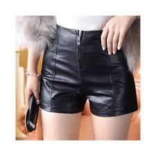 shorts women pu leather womens clothing