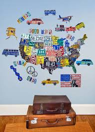 License Plate Usa Map Maps Peel Place Oopsy Daisy