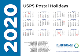 2020 USPS Postal Holidays When the Mail ...