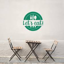 Let S Eat Wall Decal Let S Eat Decal Farmhouse Kitchen Wall Decor Kitchen Wall Art Let S Eat Wall Sign