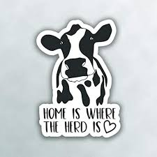 Dawasaru Home Is Where The Heard Is Cow Car Sticker Sunscreen Decal Laptop Motorcycle Auto Accessories Decoration Pvc 12cm 12cm Car Stickers Aliexpress