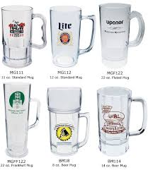 custom plastic beer mugs 8 to 22 ounce