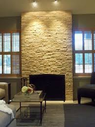 modern natural stone fireplace modern