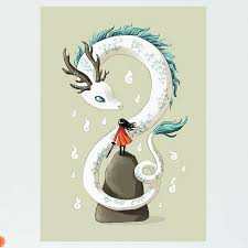 My Wonderful Walls Anime Girl And Dragon Spirit Wall Decal Wayfair