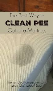 how to clean out of a mattress