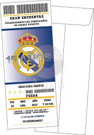 Invitacion Real Madrid Invitaciones De Cumpleanos Futbol