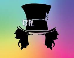 Mad Hatter Stickers Etsy