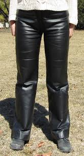 women s wide leg black leather pants
