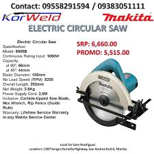 Electric Circular Saw 5806b Promo Sale Construction Industrial Construction Tools On Carousell