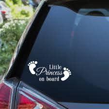 Little Princess On Board Car Sticker Child Baby On Board Window Bumper Decal Ebay