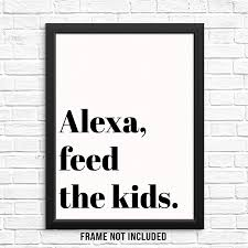 Amazon Com Sincerely Not Funny Kitchen Quote Wall Decor Art Print Poster Unframed Black White Typography Artwork For Living Room Bedroom Playroom Kids Room 8 X10 Feed Kids Posters Prints