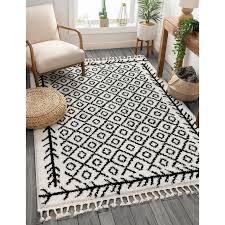 well woven cabana geometric black white