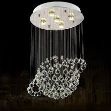 globe shape crystal chandelier led