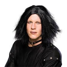 emo dark lord wig black mens