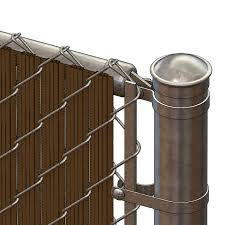 Pds Ws Chain Link Fence Slats Winged Slat 8 Foot Brown
