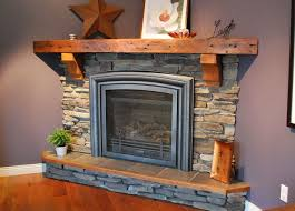 rustic wood mantel for small fireplace