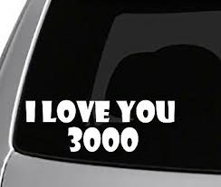 I Love You 3000 Decal Car Truck Window Laptop Bumper Sticker Cute Iron Man Ebay