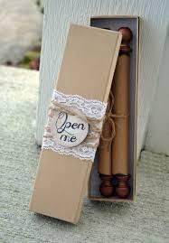 Scroll Wedding Invitation Custom Personalized Box Wooden Invite