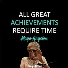 a angelou quote about time success persistence achievements cq