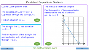 revising perpendicular and parallel