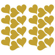 Roommates 5 In W X 11 5 In H Gold Heart 24 Piece Peel And Stick Wall Decal Rmk3074scs The Home Depot