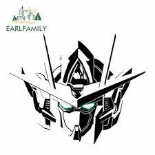 Earlfamily 13x9 8cm Gundam Car Stickers Helmet Motorcycle Cartoon Sunscreen Waterproof Vinyl Decals Shopee Philippines