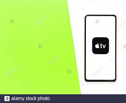 Assam, india - September 24, 2020 : Apple Tv logo on phone screen stock  image Stock Photo - Alamy