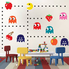 Pac Man Wall Decal Video Game Wall Decal Murals Kids Bedroom Diy Pacman Stickers Pacman Wall Murals Pacman Room Decor Primedecals