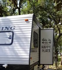 Rv Decal This Is Our Happy Place Vinyl Sticker Camping Decal Travel Trailer Classroom Decor Custom Happy Campers Collection