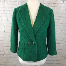 CAbi Jackets & Coats | 532 Ivy Kelly Wool Green Lined Blazer | Poshmark