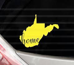 Custom West Virginia Home Vinyl Decal West Virginia State Yeti Etsy