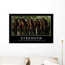 Strength Inspirational Quote And Wall Decal Wallmonkeys Com