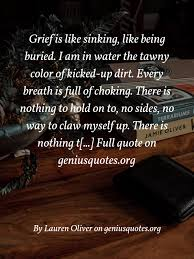 grief is like sinking like being geniusquotes