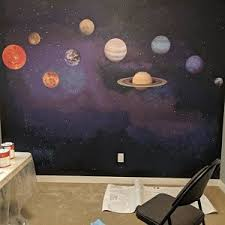 Solar System Wall Decal Planets Science Wall Stickers Etsy Solar System Wall Decal Wall Decals Wall Stickers