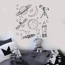 Space Astronomy Vinyl Wall Decal Home Decor School Children Room Art Mural Wall Stickers Gift Wall Stickers Aliexpress