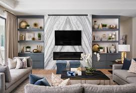 fossil creek living room fireplace