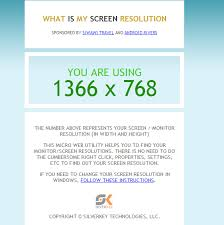 free what size is my screen