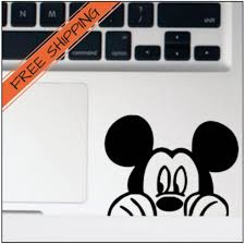 Peeking Mickey Vinyl Decal Ipad Decal Minnie Mouse Decal Laptop Decal Disney Sticker Kids Room Decor Car Dec Ipad Decal Disney Sticker Vinyl Decals