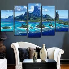 Hd Printed Painting 5 Piece Canvas Art Moana Island Wall Art Canvas Wall Decor Fe454rf5454