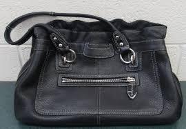 coach black leather handbag verified by