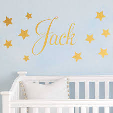 D201 Baby Boys Wall Sticker Personalised Stars Child Name Bedroom Nursery Vinyl Stickers Star Decal For Kids Room Home Decor Star Decals Name Wall Stickerswall Sticker Aliexpress